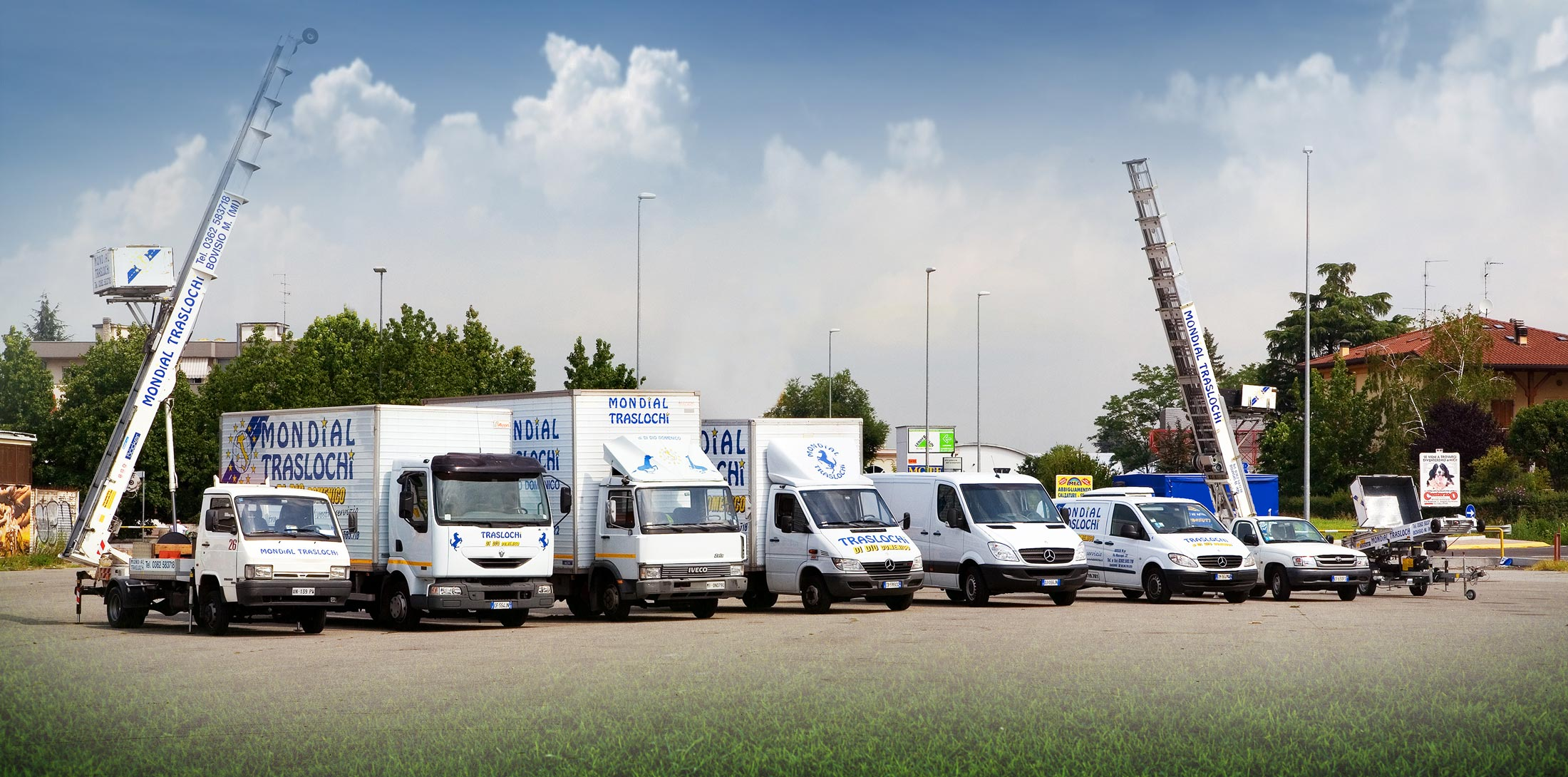 Flotta automezzi e attrezzature Mondial Traslochi